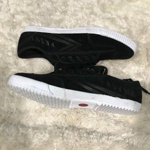 Feiyue Men's Fe Lo Black Suede Sneakers